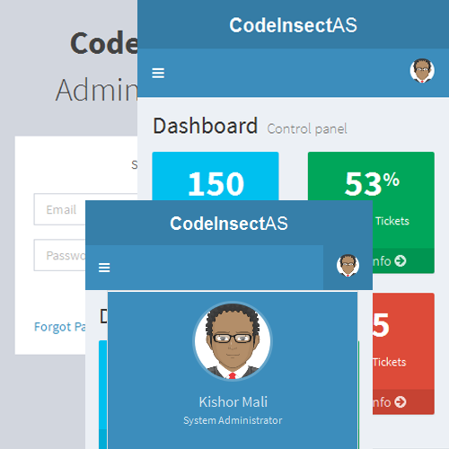 CodeIgniter Admin Panel System
