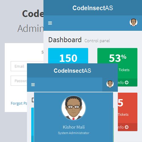 CodeIgniter Admin Panel System